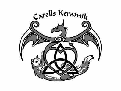 """Nytt förslag till logga åt Annika och hennes företag """"Carells Keramik"""". Nu även i bruk. 2017-09-25"""